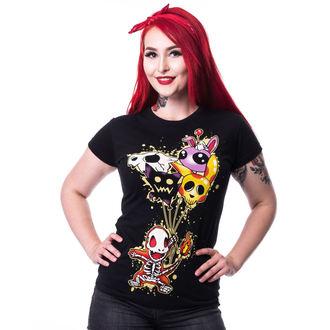 tričko dámske CUPCAKE CULT - FLAME T - BLACK, CUPCAKE CULT