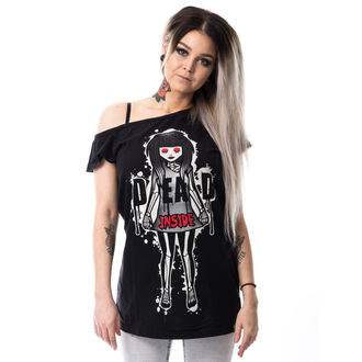 tričko dámske CUPCAKE CULT - DEAD INSIDE OFF SHOULDER T - BLACK, CUPCAKE CULT