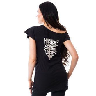tričko dámske (tunika) HEARTLESS - TORTURE OFF SHOULDER T - BLACK, HEARTLESS