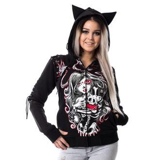 mikina dámska VIXXSIN - CAT MUERTE - BLACK, VIXXSIN