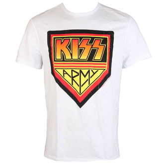 tričko pánske KISS - ARMY - WHITE - AMPLIFIED, AMPLIFIED, Kiss