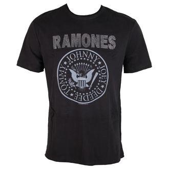 tričko pánske RAMONES - LOGO - Charcoal - AMPLIFIED, AMPLIFIED, Ramones