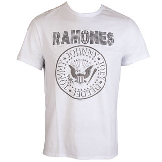 tričko pánske RAMONES - LOGO - WHITE - AMPLIFIED, AMPLIFIED, Ramones