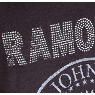 tielko pánske RAMONES - LOGO SILVER DIAMANTE - Charcoal - AMPLIFIED, AMPLIFIED, Ramones