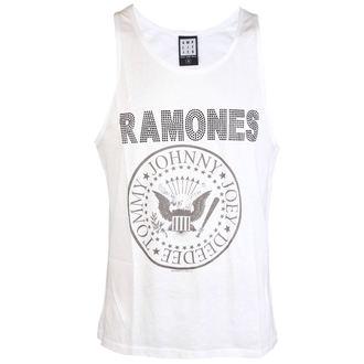 tielko pánske RAMONES - LOGO SILVER DIAMANTE - WHITE - AMPLIFIED, AMPLIFIED, Ramones