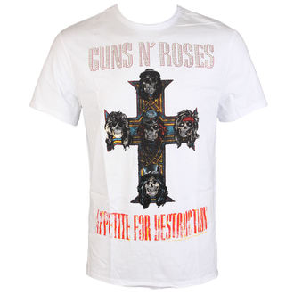 tričko pánske Guns N' Roses - CLASSIC DIAMANTE - WHT - AMPLIFIED, AMPLIFIED, Guns N' Roses