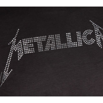 tričko pánske METALLICA - BLACK LOGO DIAMANTE - AMPLIFIED, AMPLIFIED, Metallica