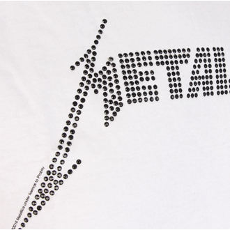 tričko pánske METALLICA - BLACK LOGO DIAMANTE - WHT - AMPLIFIED, AMPLIFIED, Metallica