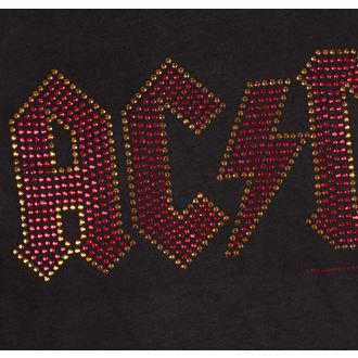 tričko pánske AC/DC - CLASSIC LOGO CHARCOAL RED - AMPLIFIED, AMPLIFIED, AC-DC