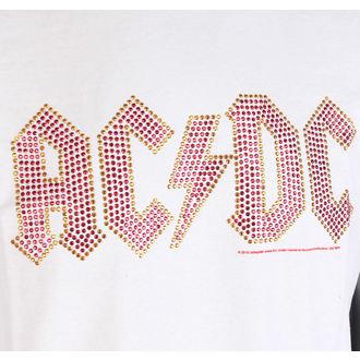 tričko pánske AC/DC - CLASSIC LOGO WHITE RED - AMPLIFIED, AMPLIFIED, AC-DC