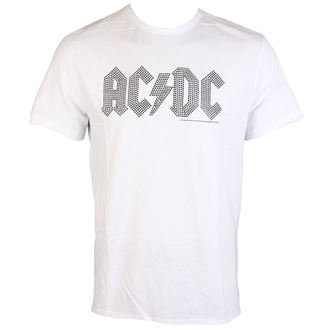 tričko pánske AC/DC - CLASSIC LOGO WHITE BLACK - AMPLIFIED