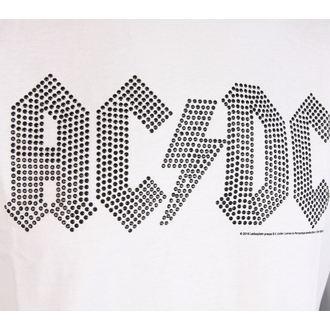 tričko pánske AC/DC - CLASSIC LOGO WHITE BLACK - AMPLIFIED, AMPLIFIED, AC-DC