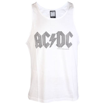 tielko pánske AC/DC - BLACK LOGO DIAMONTE WHITE - AMPLIFIED, AMPLIFIED, AC-DC