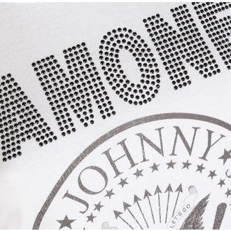 tričko dámske RAMONES - LOGO DIAMANTE - WHITE - AMPLIFIED, AMPLIFIED, Ramones