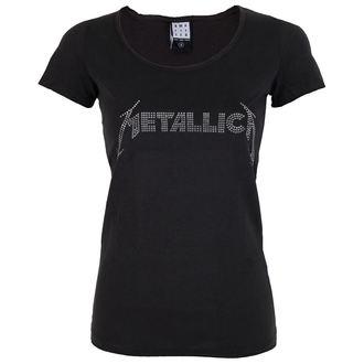 tričko dámske METALLICA - SILVER LOGO DIAMANTE - AMPLIFIED, AMPLIFIED, Metallica