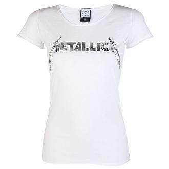 tričko dámske METALLICA - CLASSIC LOGO WHITE - AMPLIFIED, AMPLIFIED, Metallica