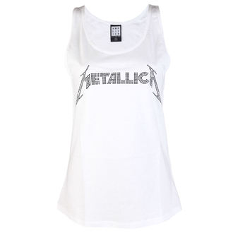 tielko dámske METALLICA - CLASSIC LOGO WHITE - AMPLIFIED, AMPLIFIED, Metallica