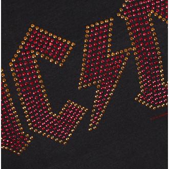 tričko dámske AC/DC - LOGO CHARCOAL RED - AMPLIFIED, AMPLIFIED, AC-DC