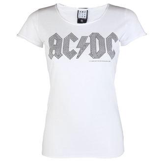 tričko dámske AC/DC - LOGO WHITE BLACK - AMPLIFIED, AMPLIFIED, AC-DC