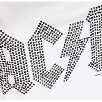 tielko dámske AC/DC - CLASSIC LOGO WHITE - AMPLIFIED, AMPLIFIED, AC-DC