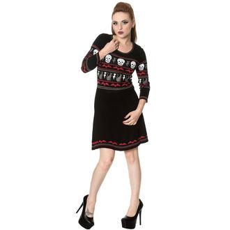 šaty dámske s dlhým rukávom BANNED - DR5190R/BLK