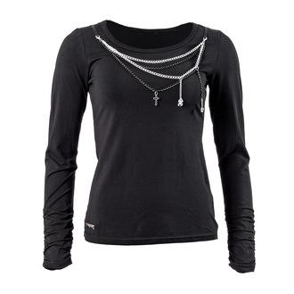 tričko dámske s dlhým rukávom QUEEN OF DARKNESS - Black and Silver, QUEEN OF DARKNESS