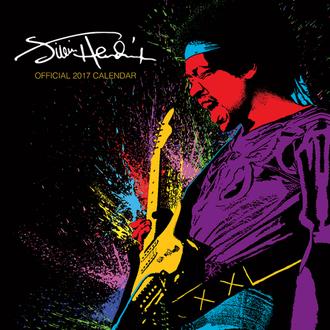 kalendár Jimi Hendrix 2017, PYRAMID POSTERS, Jimi Hendrix