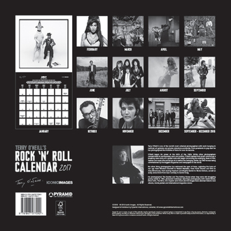 kalendár Terry O'Neill 's Rock 'n' Roll 2017, PYRAMID POSTERS