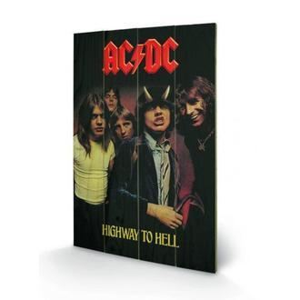drevený obraz AC/DC - Highway to Hell, PYRAMID POSTERS, AC-DC