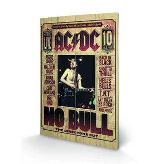 drevený obraz AC/DC - No Bull, PYRAMID POSTERS, AC-DC