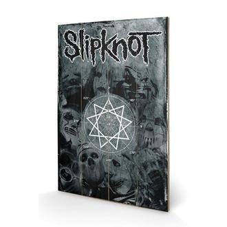 drevený obraz Slipknot - Pentagram, PYRAMID POSTERS, Slipknot