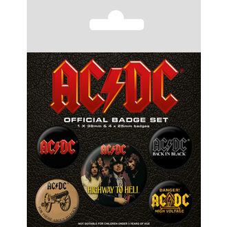 odznaky AC/DC (Logo), PYRAMID POSTERS, AC-DC