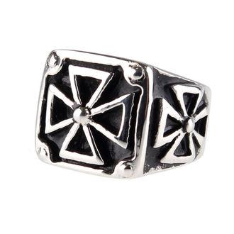 prsteň ETNOX - Black Iron Cross, ETNOX