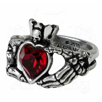 prsteň ALCHEMY GOTHIC - Claddagh By Night, ALCHEMY GOTHIC