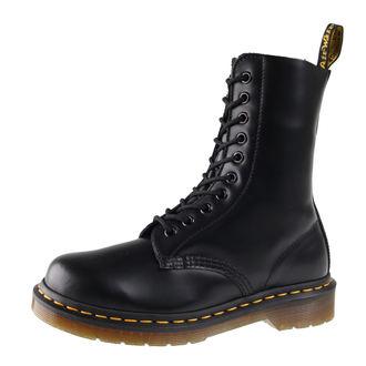 topánky DR. MARTENS - 10 dírkové - DM 1490 BLACK SMOOTH
