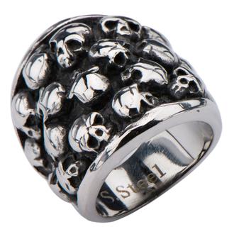 prsteň INOX - MULTI SKULLS, INOX