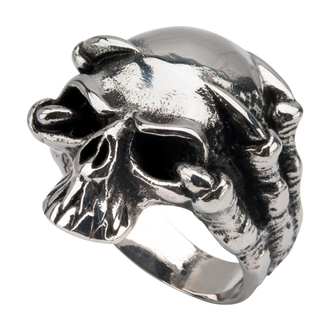 prsteň INOX - SKULL, INOX