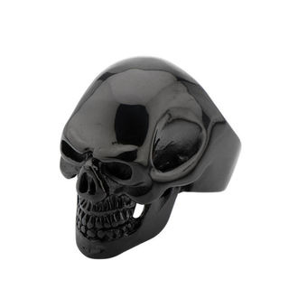prsteň INOX - BLK IP SKULL ALL TEETH, INOX
