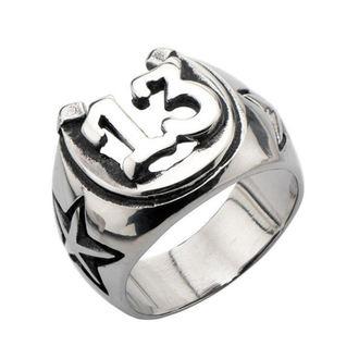 prsteň INOX - BLK LCKY13 HORSHOE, INOX