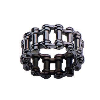 prsteň INOX - MOTO CHAIN BLACK, INOX