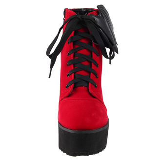 topánky dámske IRON FIST - Bat Wing Boot Red Velvet, IRON FIST