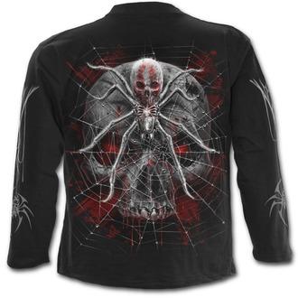 tričko pánske s dlhým rukávom SPIRAL - SPIDER SKULL - Black - D073M301