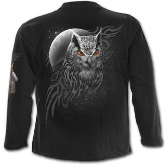 tričko pánske s dlhým rukávom SPIRAL - WINGS OF WISDOM - Black - E022M301
