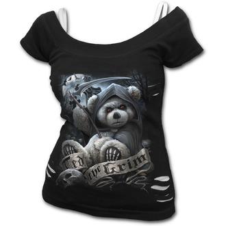 tričko dámske SPIRAL - TED THE GRIM - TEDDY BEAR - Black