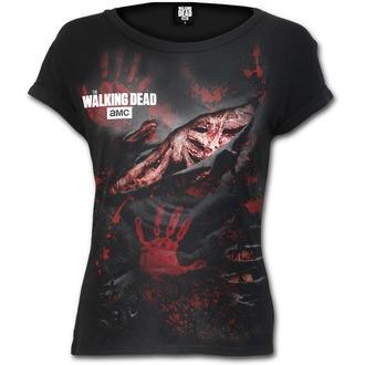 tričko dámske SPIRAL - LOGO - BLOOD - Walking Dead - Black, SPIRAL