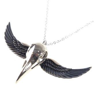 obojok ETNOX - Winged Crow Skull - Silver, ETNOX