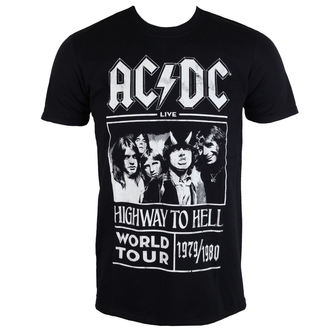 tričko pánske AC/DC - Highway To Hell - World Tour 1979/80 - Black - ROCK OFF, ROCK OFF, AC-DC
