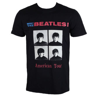 tričko pánske The Beatles - American Tour 1964 - Black - ROCK OFF, ROCK OFF, Beatles