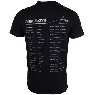 tričko pánske Pink Floyd - Dark Side of the Moon 1972 Tour - Black - ROCK OFF, ROCK OFF, Pink Floyd