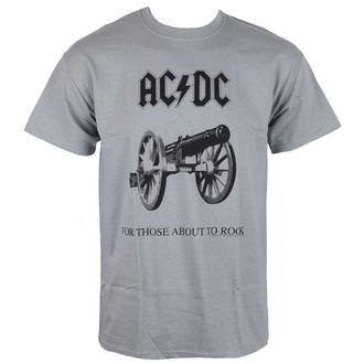 tričko pánske AC/DC - For Those about to rock - Grey - LOW FREQUENCY, LOW FREQUENCY, AC-DC